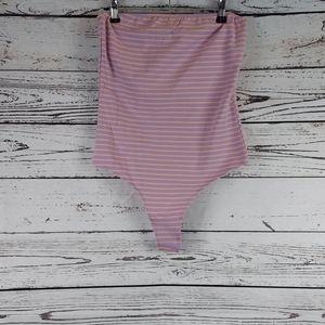 American apparel striped tube top Bodysuit